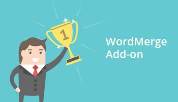 Wordmerge Addon
